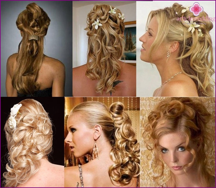 Boxes of cascading curls bride Witness