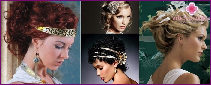 Hairstyles witnessed in the Greek style