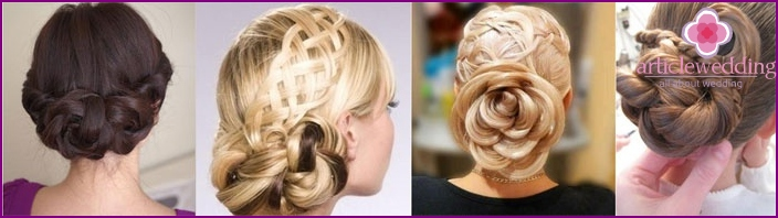 Curl - a great way to laying bridesmaid