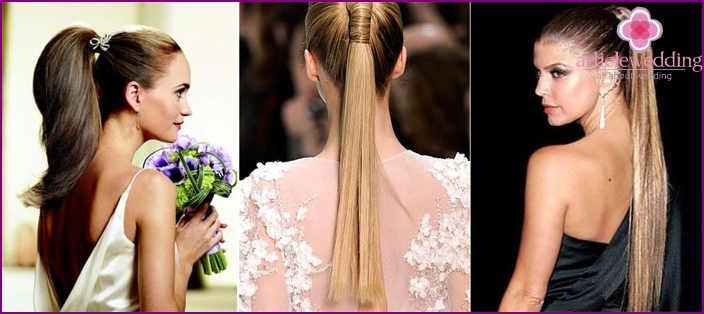 Horse tail image for bridesmaids
