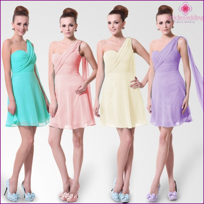 Dresses in pastel colors