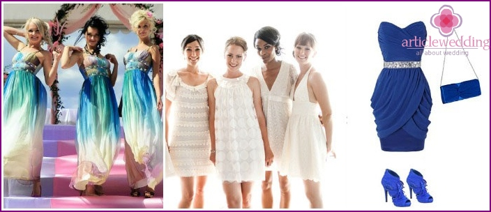 Examples of bridesmaid dresses