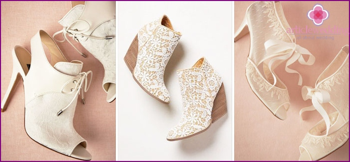 Comfortable and beautiful shoes for the bride
