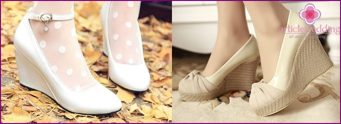 The color of the bride's shoes: white or ivory