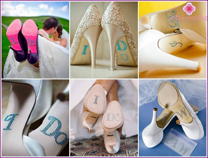 Decoration soles of shoes bride rhinestones