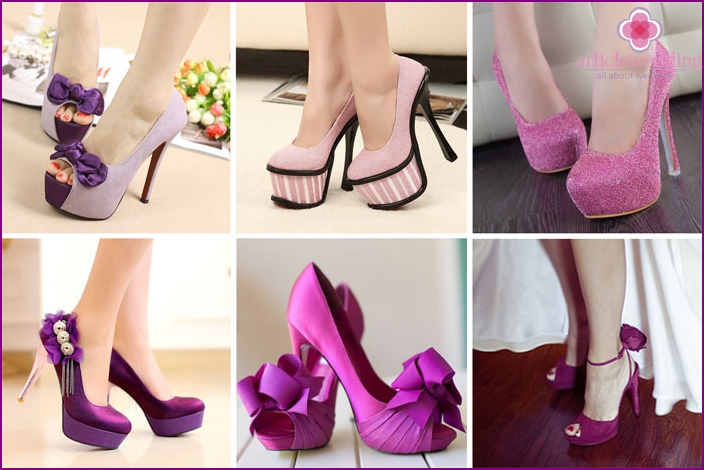 Lilac shoes lush dress