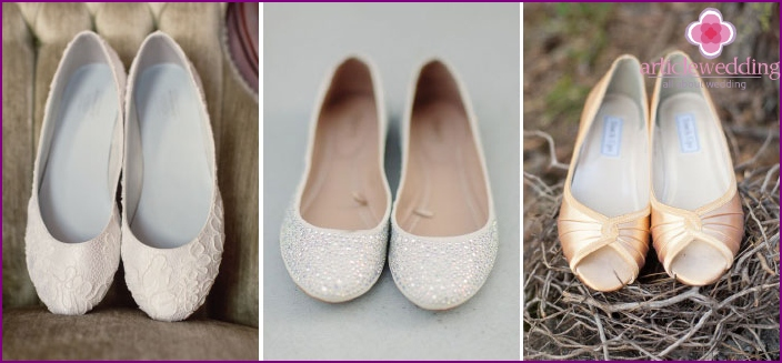 Comfort - the main advantage of ballet shoes for wedding