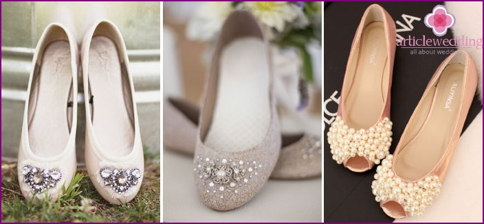 Wedding shoes can be of any color