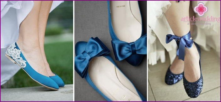 Blue ballet shoes