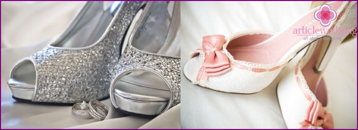 Options jewelry shoes bride