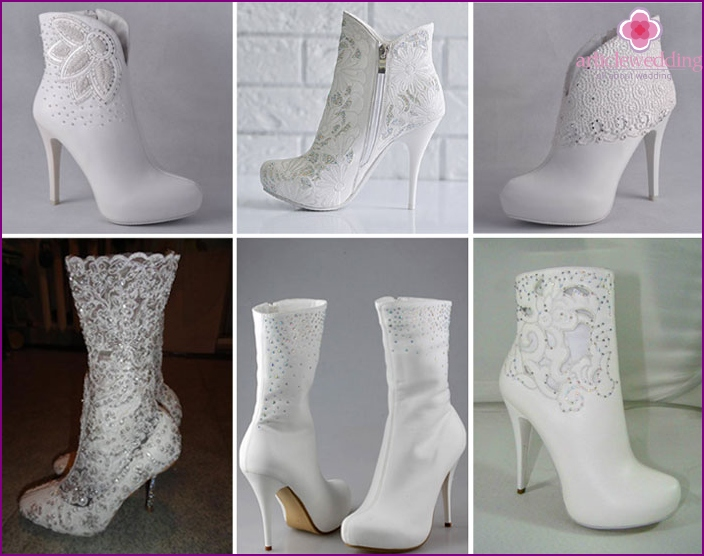 Wedding Ankle boots with stones