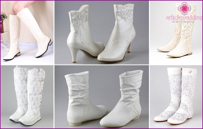 Wedding shoes without a heel for the bride
