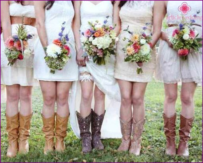 The bride in boots