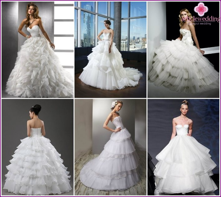 Multilevel Dresses for Bride