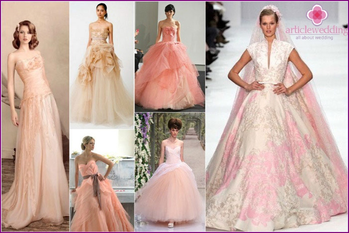The image of the bride peach