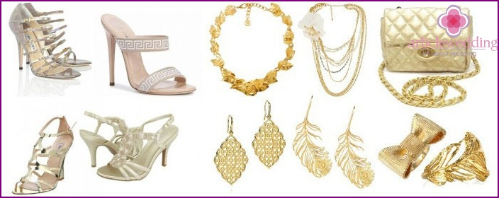 Accessories for women's wedding decoration in Greek