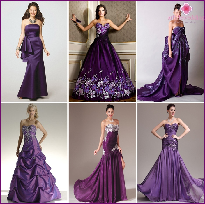 Wedding Dress color of ripe grapes