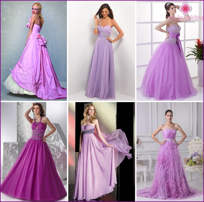 Lilac dress for a princess
