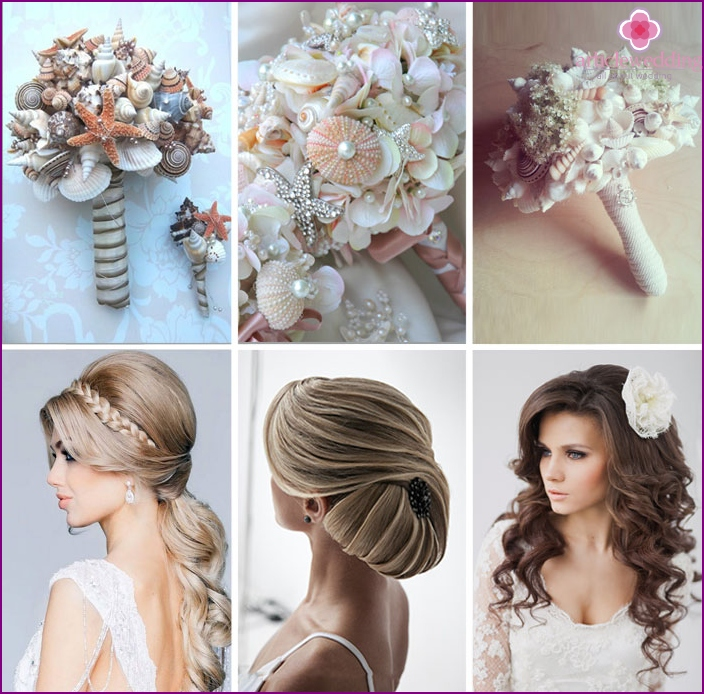 Accessories for marine image of the bride