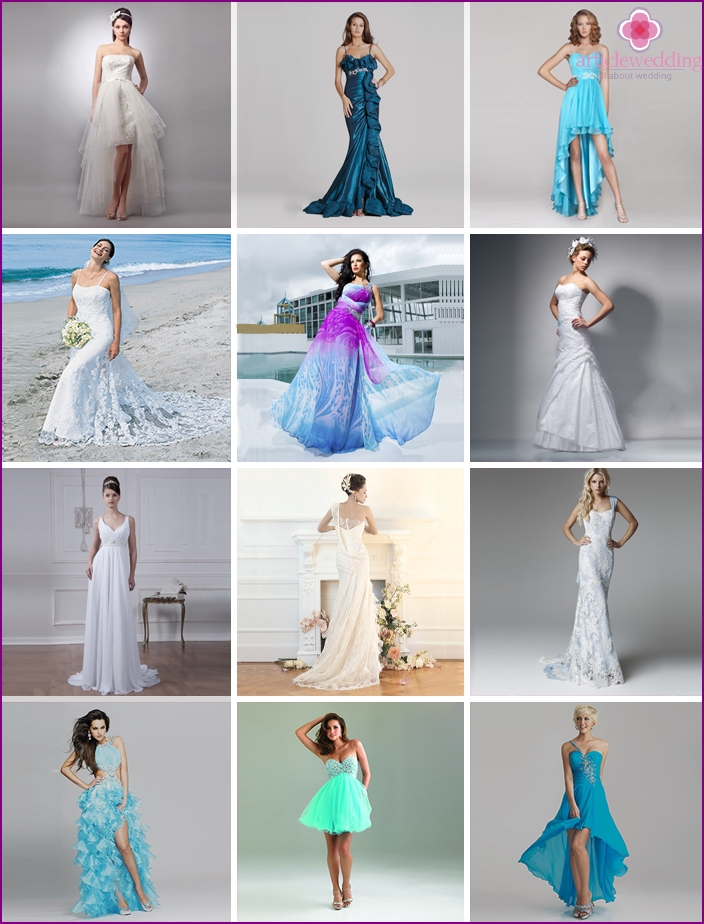 New items dresses for brides in a marine style