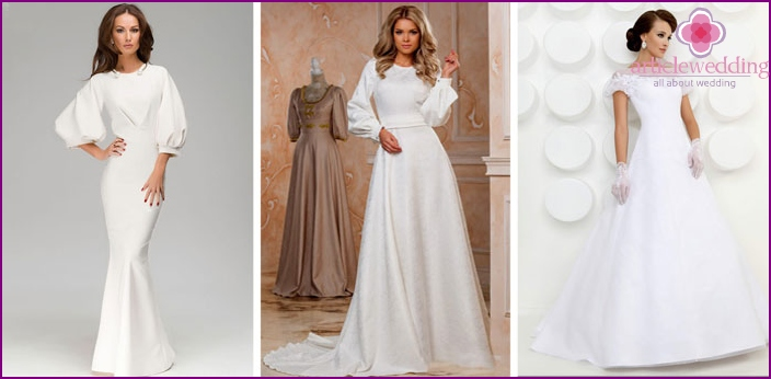 Types classic lantern sleeve-on for wedding dresses