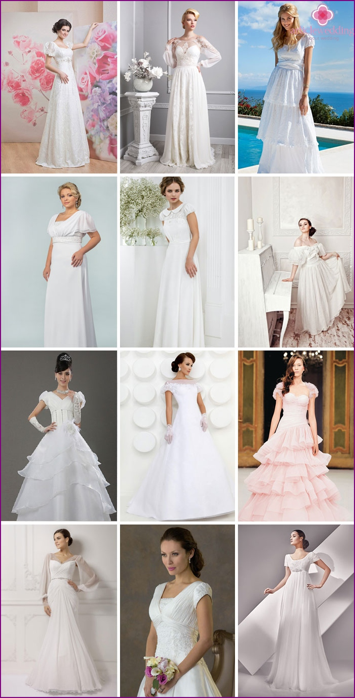 Beautiful outfits for the bride