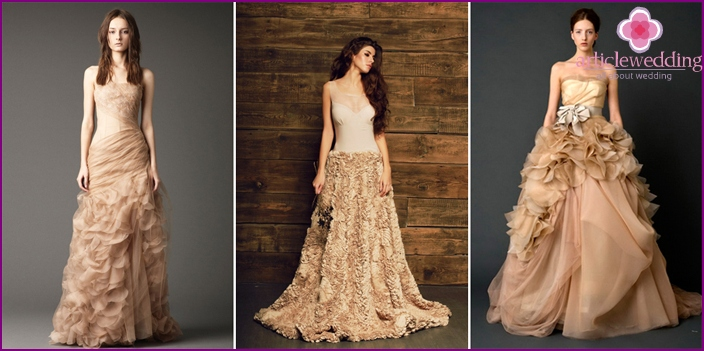 Shades of coffee for the bride image