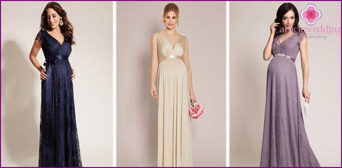 6f0edf08c313c0 Вечірні плаття для вагітних: красиві довгі і короткі моделі