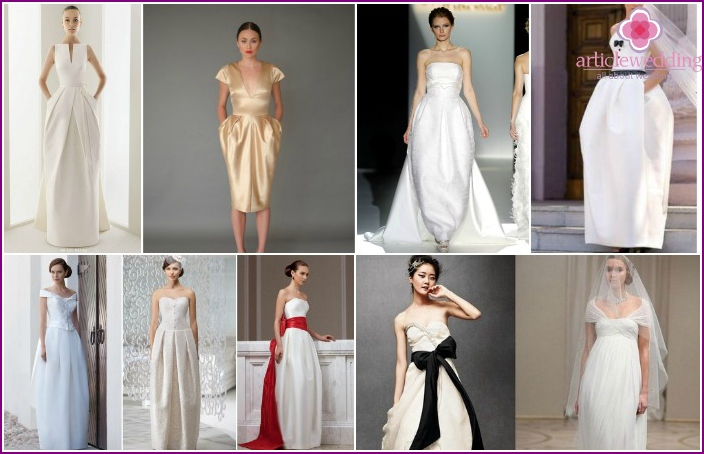 Long options of wedding dresses, tulips