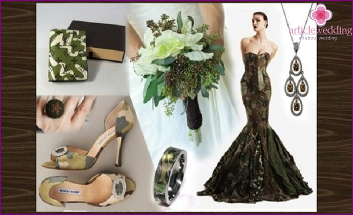 Wedding accessories military