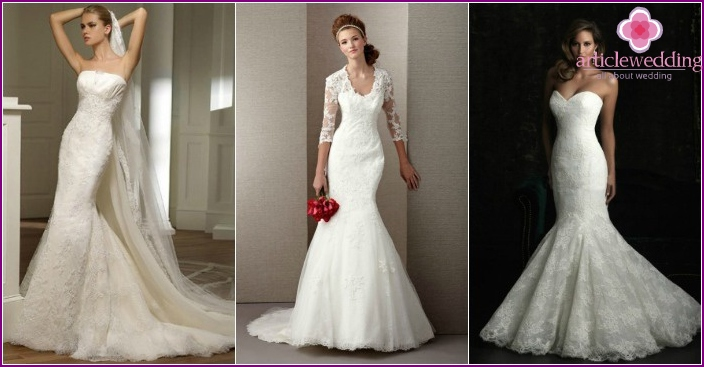 Photo: Lace wedding dresses 2016 fish