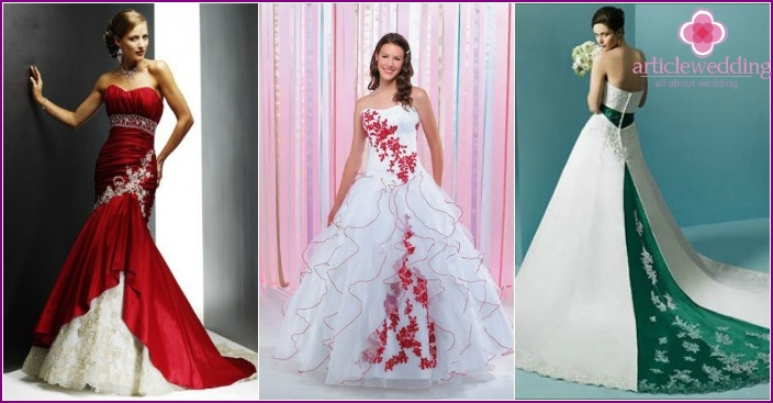 Fancy colored wedding dresses