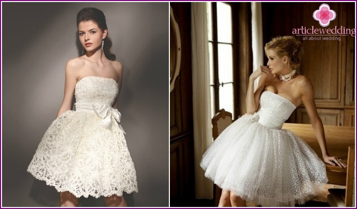 Photo shortened lush wedding dresses
