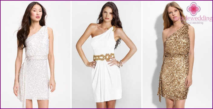 Greek short dresses for wedding