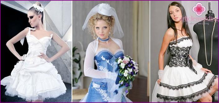 Top dress the bride on wedding rock