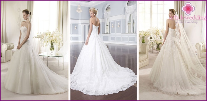 Luxury Wedding Dresses with a spectacular train