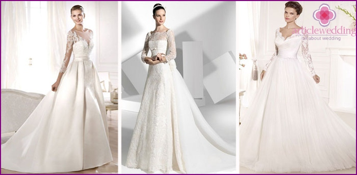 Luxury Wedding Dresses with lace sleeves