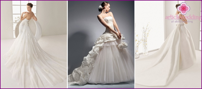 Detachable skirt wedding in models