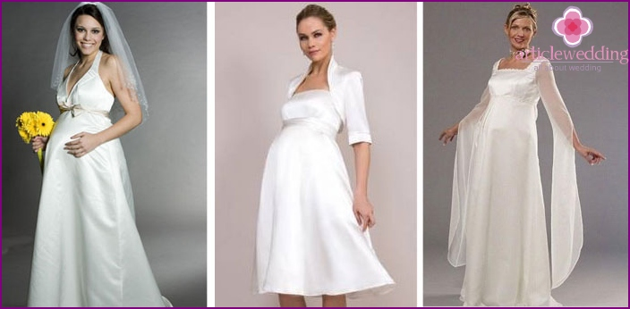 Styles for pregnant brides