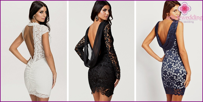 Short dresses with lace