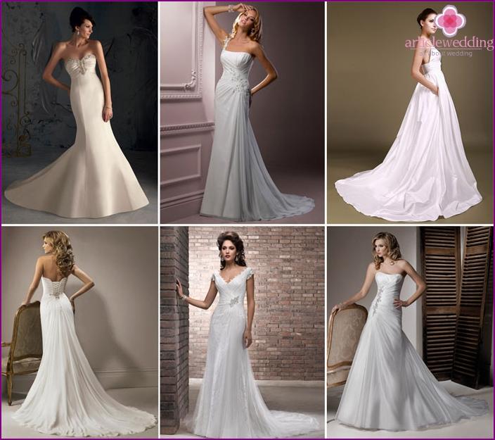 Long trail Chapel clothes bride