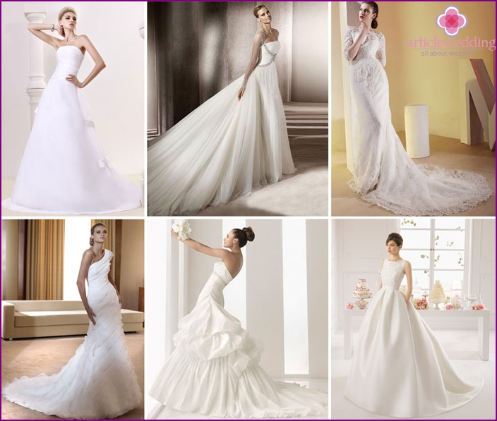 Hem wedding dress type Cathedral
