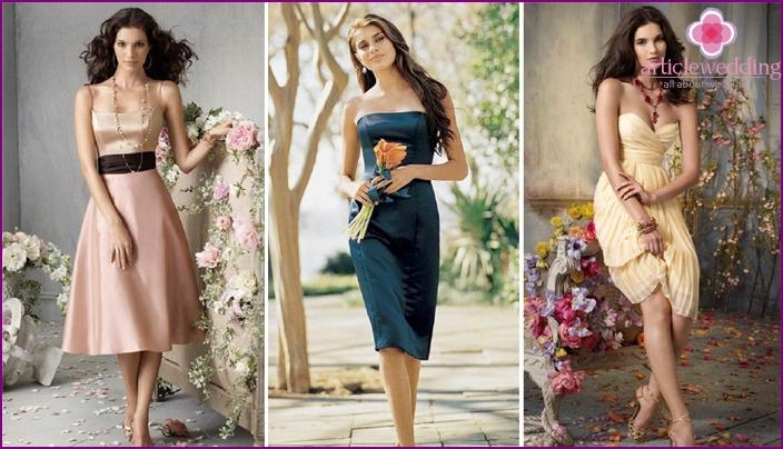 Elegant dresses for wedding girlfriends