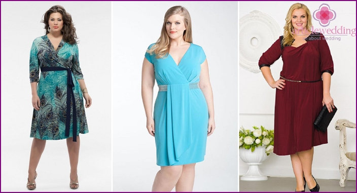 Beautiful clothes for full ladies at a wedding