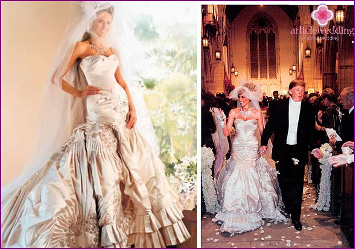 Apparel for the wedding of Melanie Trump