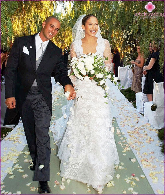 J. Lo in wedding attire