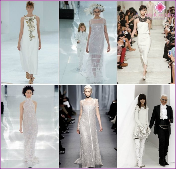 Dresses bride Chanel straight cut