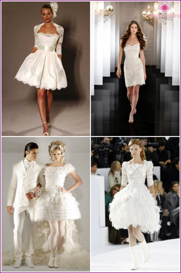 Short wedding dresses from Chanel