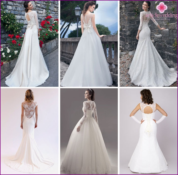 The outfits for the wedding with lace back