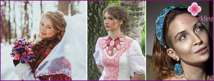 Accessories for the dress in the Slavic style